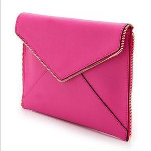 Pink Leo Envelope Clutch